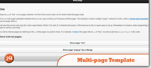 jQuery Multi Page Template