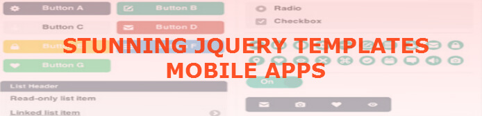 best jquery mobile templates