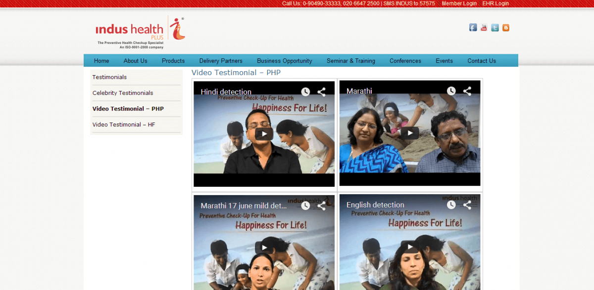 .indusites.com video-testimonial
